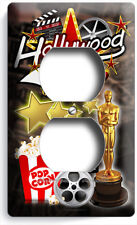 HOLLYWOOD ENTERTAINMENT TV ROOM MOVIE THEATER STARS OUTLET WALL PLATE HOME DECOR