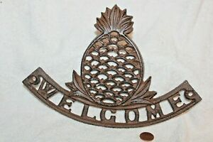 Cast Iron Pineapple Welcome Sign