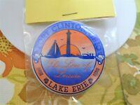 Vtg Lake Erie Pinback Button Port Clinton Ohio OH Love Of Leisure 80's Pin Badge