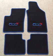 Autoteppich Fußmatten Teppich für Fiat 500x ab 2014' blau rot 4teilig Neuware