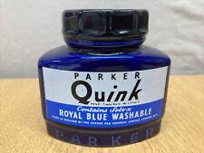 Rare Parker Pen Large Quink Ink Ceramic Desk Pot c1986