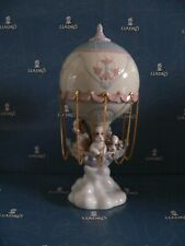 Lladro Puppies In Hot Air Balloon 6524 *Mint In Box