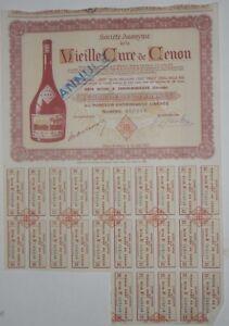 Action - Société Anonyme de la Vieille Cure de Cenon action de 2500 Fr N°019648
