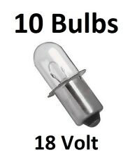 (10) Craftsman 18v Volt Flashlight Replacement Xenon Bulb 315.115110, 315.113901