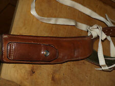 Safariland m100 large auto leather shoulder holster fits 1911a1 & similar mint!!