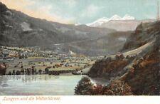 308981) Panorama AK Lungern u. die Wetterhörner Kanton Oberwalden Schweiz