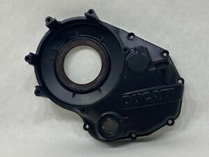 Ducati BLACK Vented Dry Clutch Housing Engine Motor Right Side Cover