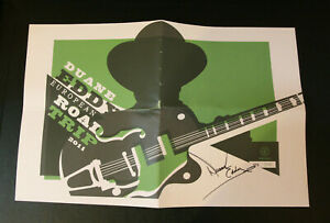 European ROAD TRIP 2011 limited edition Poster SIGNED by DUANE EDDY