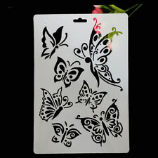 Butterfly Masking Spray Stencil For Walls Painting Embossing Scrapbook Stamp c
