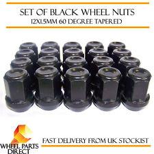 Alloy Wheel Nuts Black (20) 12x1.5 Bolts for Hyundai Santa Fe [Mk2] 06-12