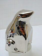 MCM style metal POLAR BEAR figure statue SILVER TONE chrome or polished nickle
