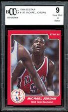 1984-85 Star #195 Michael Jordan Rookie Card BGS BCCG 9 Near Mint++