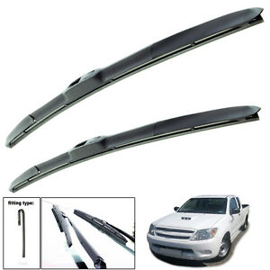 """Fits Toyota Hilux 2005-On Hybrid Wiper Blades Set Of Front 21"""" 19"""""""