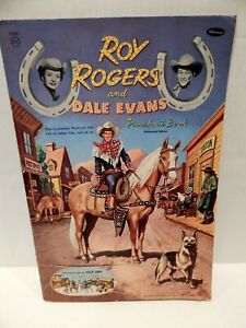 """ROY ROGERS & DALE EVANS 1954 WHITMAN PUNCHOUT BOOK - """"COWTOWN"""""""