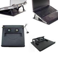 2 Ventilador Puerto USB Enfriador Pad para 14' 15.6'17' Pulgadas Portátiles