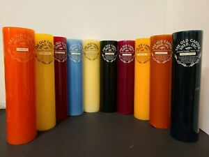 """Extra Tall Pillar Candles 12"""" x 3"""" by The Old Candle Shed, Inc Lancaster County"""
