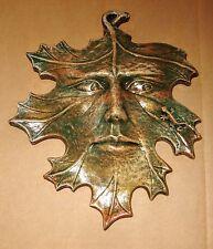 Green Man Leaf Face Lizard Mask Mythical home Garden Decor Sculpture