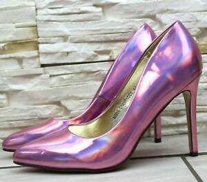Womens High Stiletto Heel Court Shoes Pointed Toe Ladies Wedding Party Size 3 ,4