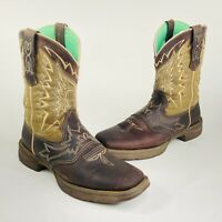 Durango Lady Rebel Womens Sz 10 M Brown Cowboy Western Boots Let Love Fly RD4424
