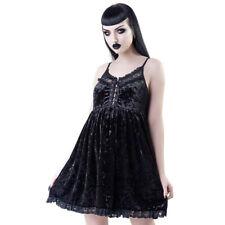 Killstar Gothic Goth Okkult Samt Babydoll Kleid Minikleid - Ashbury's Angel