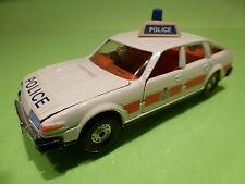 CORGI TOYS ROVER 3500 - BRITISH  POLICE CAR - WHITE 1:32? - VERY GOOD