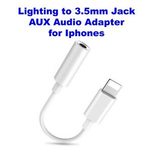 Lighting to 3.5mm Jack AUX Audio Adapter for Iphone 7-8-X-XS-XR SE 2020 Pro