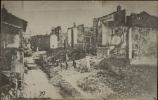 WWI Verdun France After Bombing Real Photo Postcard #39