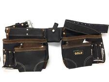 Leather Gold  SUPREME 10-Pocket Leather Nail & Tool Apron Carpenter Belt
