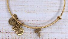 Alex and Ani Small Letter T Charm Bangle Gold Bracelet