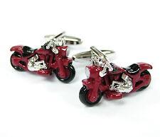 Red Motorbike Cufflinks Harley Cuff Links Automotive Gemelos £70 for 7 item