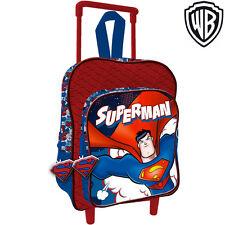 acd24d79f0 Zaino Trolley Superman Warner Bros Originale Asilo Scuola Bambini Viaggi 30  cm
