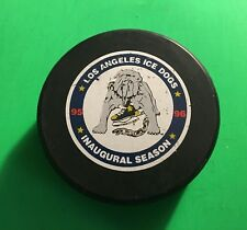 1995-96 LOS ANGELES ICE DOGS Inaugural Season(Only) Hockey Puck (CZECH REPUBLIC)