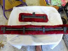 Pony Fleece Harness Saddle & Breast Collar Pads Set Amish Made Burgundy