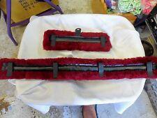 Mini Horse Fleece Harness Saddle & Breast Collar Pads Set Amish Made Burgundy