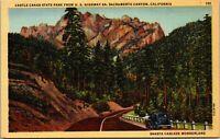 Vtg 1930's Castle Crags State Park, Sacramento Canyon California CA Postcard