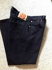 Levis 501 Black Button Fly 42 X 30 Red Tag 5 Pocket Jeans