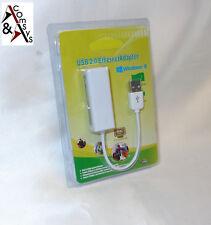 Adapter USB 2.0 LAN Ethernet Netzwerk RJ45 10/100 USB Network Konverter Mac 10cm