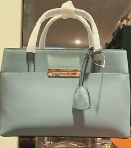 KATE SPADE MAIDEN WAY ZURI LEATHER HANDBAG SEASIDE BLUE NWT