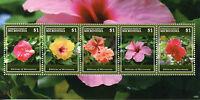 Micronesia 2015 MNH Hibiscus of Micronesia 5v M/S II Flowers Flora