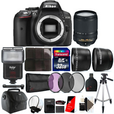 Nikon D5300 24.2MP DSLR Camera with 18-140mm VR Lens and Accessory Bundle