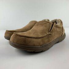 NEW Skechers Expected X Larmen Slipper Men US 8 Tan Slip On Loafer Shoe Faux Fur
