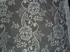 Estate Vintage Lace Rod Pocket Curtain Panel 54 Wide X 34 Inches High