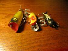 Heddon lot Baby Lucky 13 , Tiny Torpedo , & Midget River Runt