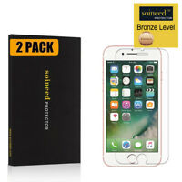 [2-Pack] SOINEED For iPhone 7 8 Plus Tempered Glass Screen Protector
