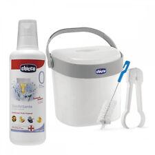 CHICCO Sterilbox Kit per Disinfettante a Freddo Accessori Neonato + 1Lt Liquido