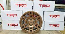 "Set of 4 Toyota TRD Pro Wheels 17"" Bronze Fits Tacoma 4runner FJ Cruiser"