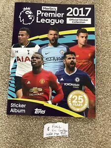 Merlin Premier League 2017 Football sticker ALBUM Complete. Excellent Condition