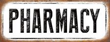 Pharmacy Metal Sign, Medicine, Old School, Vintage, Retro