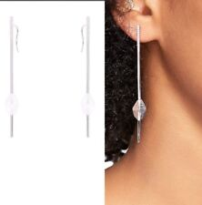 Mimco Jubilee Silver Ear Earrings Unique and Stylish Dust Bag