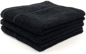 100% Cotton Black Hairdressing Towel Gym Barber Salon Beauty Hair Towels 50x85cm